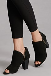 Forever 21 Sbicca Open Toe Booties Black