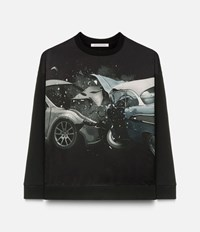 Christopher Kane Car Crash Sweatshirt Black