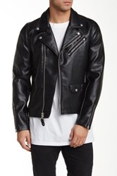 Members Only Authentic Faux Leather Bike Jacket Black