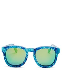 Wildfox Couture Fox Mirrored Wayfarer Sunglasses 50Mm Montery Green Mirror