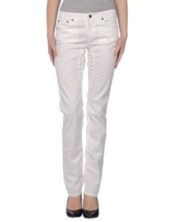 Jaggy Casual Pants White
