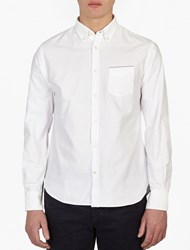 Officine Generale White Heavy Cotton Shirt
