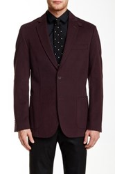 Flynt Burgundy Corduroy Two Button Notch Lapel Sport Coat Red