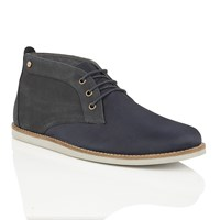 Frank Wright Roper Mens Lace Up Boots Navy
