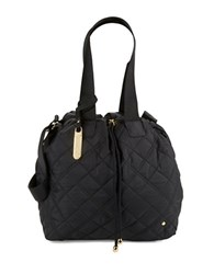Le Sport Sac Juliet Drawstring Crossbody Bag Black Quilt