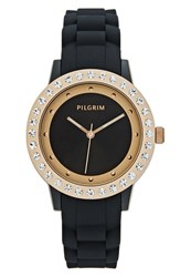 Pilgrim Watch Rose Goldcoloured Black