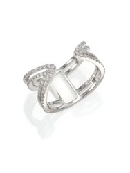Meira T Diamond And 14K White Gold Peaked Open Ring