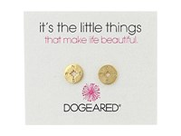 Dogeared Little Things Compass Disc Stud Earrings Gold Dipped Earring