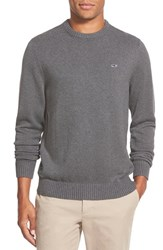 Men's Vineyard Vines 'Whale' Classic Fit Cotton Crewneck Sweater Charcoal Heather