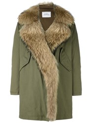 Forte Couture Hooded Parka Coat Green