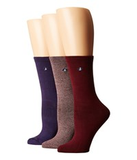 Sperry Crews 3 Pack Griffin Windsor Women's Crew Cut Socks Shoes Multi