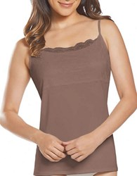 Jockey No Panty Line Promise Luxe Lace Cami Deep Beige