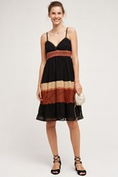 Anthropologie Tiered Lace Dress Black