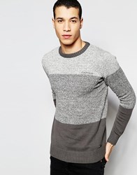 Firetrap Stripe Knitted Jumper Black