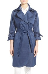 Women's Eliza J Denim Sateen Trench Coat