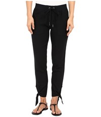 Mod O Doc Linen Rayon Ankle Tie Pull On Pants Black Women's Casual Pants