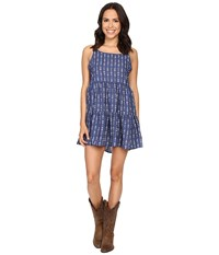 Rock And Roll Cowgirl Spaghetti Strap D5 7671 Light Navy Women's Clothing Blue