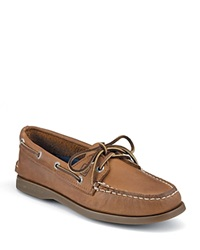 Sperry A O 2 Eye Lace Leather Boat Shoes Sahara Tan