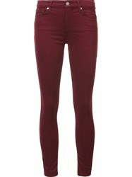 7 For All Mankind Skinny Jeans Red
