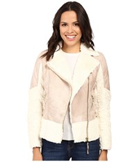 Kut From The Kloth Baylee Long Sleeve Bonded Coat Pink Ivory Women's Coat White