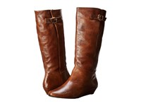 Steven Intyce Cognac Leather Women's Pull On Boots Brown