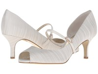 Adrianna Papell Janet Oyster Strata Satin High Heels White