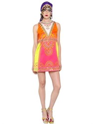 Manish Arora Sequined And Printed Techno Satin Dress