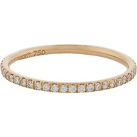 Ileana Makri Women's Pave Diamond And Pink Gold Thread Band No Color