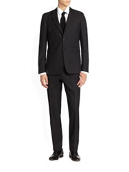 Burberry Millbank Modern Wool And Cashmere Suit Navy Black Charcoal