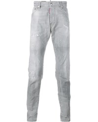 Dsquared Cool Guy Distressed Jeans Grey White Black