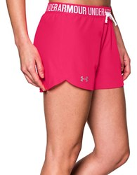 Under Armour Play Up Athletic Shorts Fuchsia