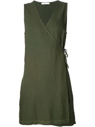 321 Short Wrap Dress Green