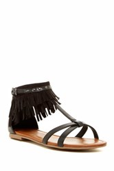 Indigo Rd Cross Fringe Sandal Black