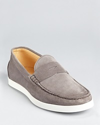 The Men's Store At Bloomingdale's Sporty Suede Penny Loafer Grey