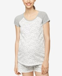 A Pea In The Pod Maternity Lace T Shirt Heather Grey