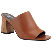 John Lewis Kin By Malene Mule Block Heeled Sandals Brown