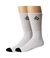 Volcom Full Stone Sock White Men's Crew Cut Socks Shoes