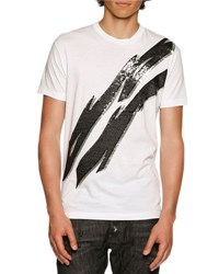 Dsquared Glam Rock Lightning Bolt T Shirt White