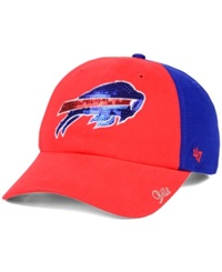 '47 Brand Women's Buffalo Bills Sparkle 2 Tone Adjustable Cap Red Royalblue