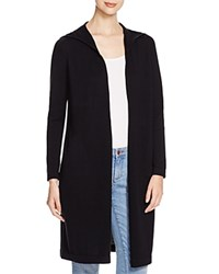 Eileen Fisher Long Hooded Cotton Cardigan Bloomingdale's Exclusive Black