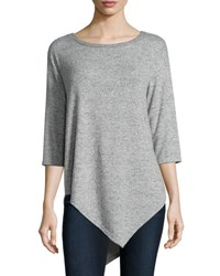 Joie Tammy 3 4 Sleeve Sweater Heather Gray