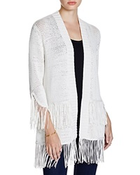 Moon And Meadow Fringed Cardigan Ivory