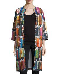 Libertine 3 4 Sleeve Book Print Duster Coat Multi Colors