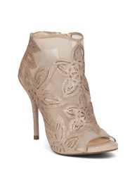 Jessica Simpson Bliths Floral Open Toe Boots Gold