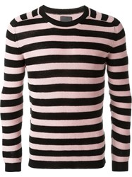Laneus Stripe Sweater Pink And Purple