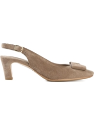 Roberto Del Carlo Sling Back Pump Shoes Nude And Neutrals