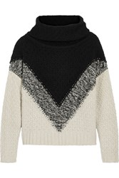 Autumn Cashmere Chunky Knit Turtleneck Sweater Black