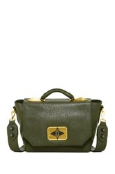 Treesje Clara Leather Shoulder Bag Green