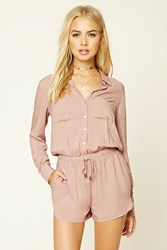 Forever 21 Button Up Dolphin Hem Romper