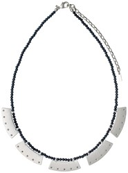 Pilgrim Silver Colour With Grey Necklace Grey